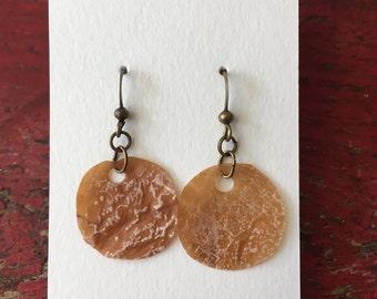 Vegan Kombucha Leather Earrings (circular)