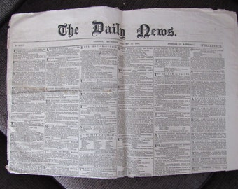 The Daily News London January 26, 1865 Newspaper Free Shipping