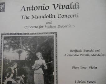 Antonio Vivaldi The Mandolin Concerti and Concerto for Violino Discordato Vintage LP Vinyl Record. Recorded Classical Music.
