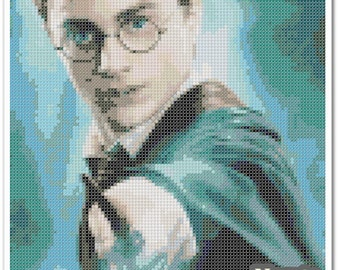Harry Potter Cross Stitch Pattern, Harry Potter x stitch pattern, Cross stitch Embroidery, Embroidery pattern