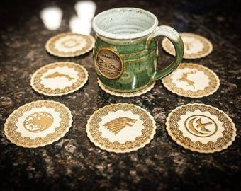 Game of Thrones Noble House Coasters