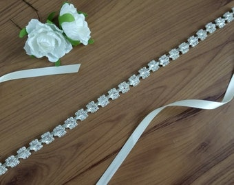 Silvery Wedding Sash,Crystal Sash Belt,Sash Belt, Wedding Belt,Bridal Belt, Bridesmaid Belt,Bridal Sash, Bridal Sash Belt 609