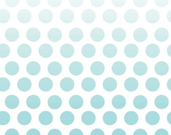 Riley Blake-Ombre Dots-Aqua-sold by the yard