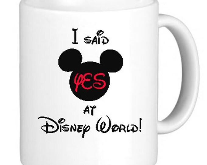 "Coffee Mug, Ceramic Mug, ""I said YES in ___!"" Mug, Quote Mug, Gift Idea for Her, Bride-to-be, Recently Engaged"