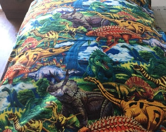 Pillowcase dinosaurs