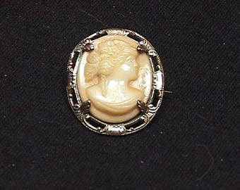 Antique Framed Cameo Brooch Ready to Wear