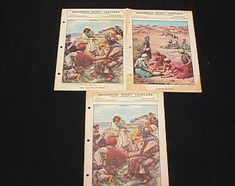 Three Religious Child's Sunday School Booklets from 1935