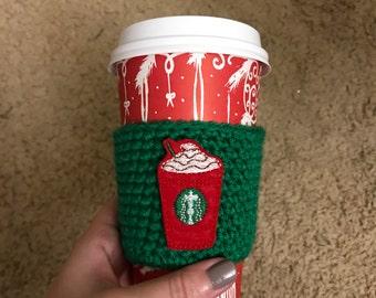 READY TO SHIP - coffee cozy - crochet coffee cozy - coffee sleeve - coffee mug - starbucks - gifts under 10 - stocking stuffers