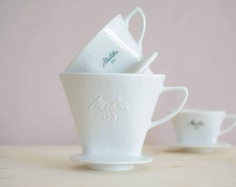 Melitta filter 123 | Coffee filter. Porcelain filter. White