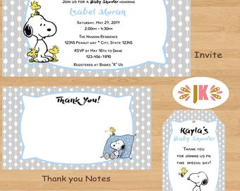 Forever Snoopy Baby Snoopy Baby Shower Invitations