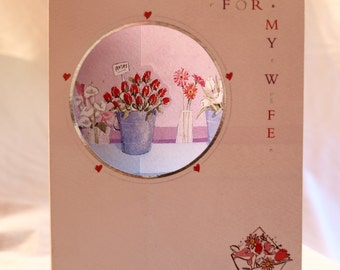 For My Wife  Roses in a Bucket  Birthday Card