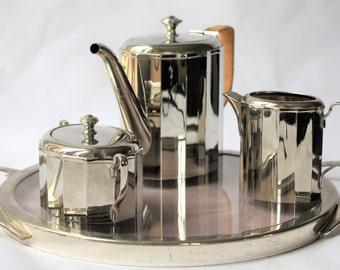 Tea set in metal WMF (Germany)