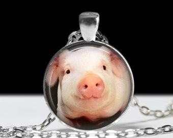 Pig Necklace Pig Jewelry Farm Jewelry  Farmhouse Jewelry Farm Girl Jewelry Pig Pendant Photo Pendant