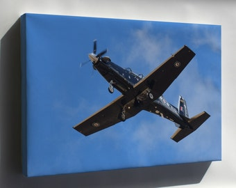 Canvas 24x36; Beechcraft T-6 Texan Ii Overhead