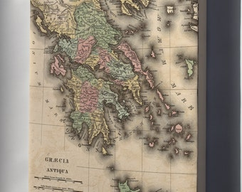 Canvas 24x36; Map Of Greece In Antiquity 1826
