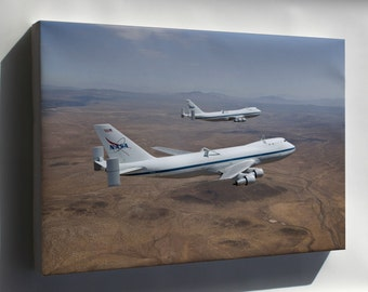 Canvas 24x36; Nasa Modified Boeing 747 Space Shuttle Carriers 905 And 911