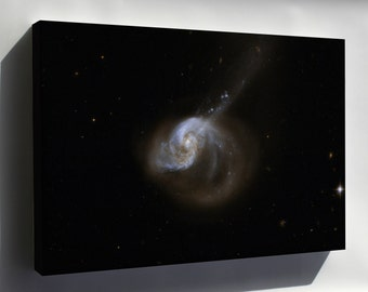 Canvas 24x36; Hubble Interacting Galaxy Ngc 1614 2008 04 24