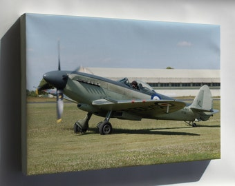 Canvas 24x36; Supermarine Seafire, Naval Version Of Spitfire