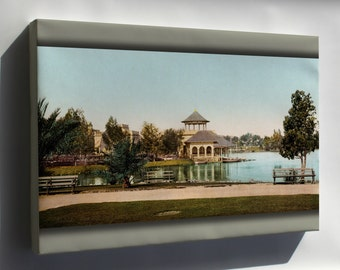 Canvas 24x36; West Side Park, Los Angeles, California, 1902