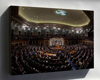 Canvas 16x24; 2011 State Of The Union Fisheye