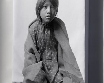 Canvas 16x24; Taos Girl Native American Indian By Edward S. Curtis 1905