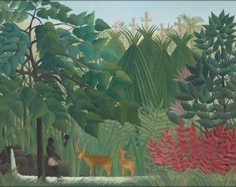 16x24 Poster; Henri Rousseau The Waterfall