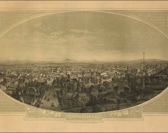 16x24 Poster; View Of Los Angeles, California 1888