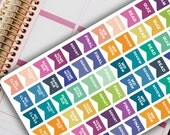 Academic Planner Stickers - STUDY PENNANT FLAG stickers