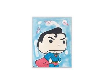 PopVinyl Superman - Original Pop Art Painting
