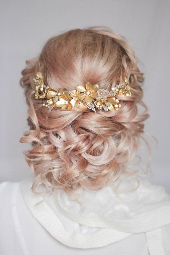 Large Flower Statement Headpiece Wedding Headpiece Bridal Hair Piece Decorative Hair Adornment Large Decorative Floral Bridal Hair Comb