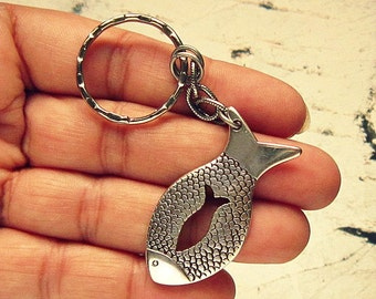 Fish Keychain, Fishing Keychain, Fisherman Gift, Fishing Gifts, Gift For Fisherman, Fishing Gifts For Men, Fish Jewelry Men, Fishing Jewelry