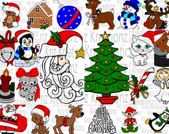 22 Christmas Designs Bundle SVG Cut Files