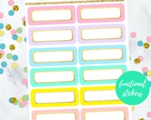 NEW RELEASE Rounded Pastel/Glitter Label Stickers  (Perfect for Erin Condren Planners) FS-004