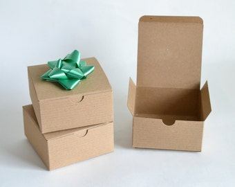 """Gift Boxes, Kraft Boxes, Kraft Gift Boxes, Party Favor Boxes, Paper Boxes, Christmas Gift Boxes, Favor Boxes, Brown Boxes, 10/pack 4x4x2"""""""