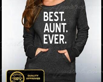 Best Aunt Ever Eco Sweatshirt, Best Aunt Ever Off Shoulder Sweatshirt, Auntie Sweater