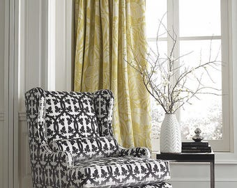 SCALAMANDRE FALK MANOR House Trellis Cut Velvet Fabric 10 Yards Carbon