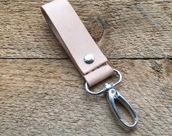 Leather fixed keychain