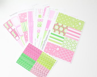 Me Time Spa Weekly Planner Sticker Kit and Washi Removable Matte  or Glossy Stickers
