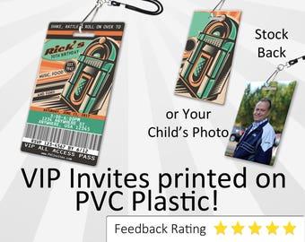 Retro Invitation PLASTIC Retro, Retro Invitation, Birthday Invitation, Birthday Invite, Retro Birthday Invitation SKU-INV222