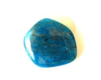 Blue Apatite natural stone cabochon  32 x 31 x 5 mm