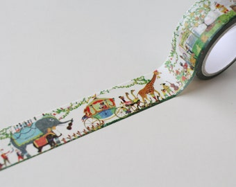 Circus/ Animals Washi Tape/ Wide Fairy Tale Planner theme/ Magical Circus Deco Tape