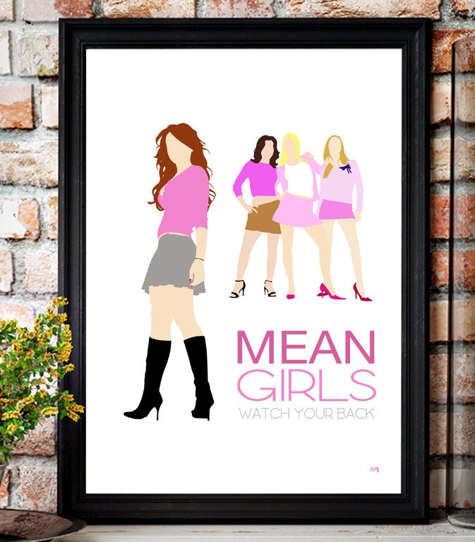Mean Girls // Lindsay Lohan // Minimalist Movie Poster // Unique A4 / A3 Art Print