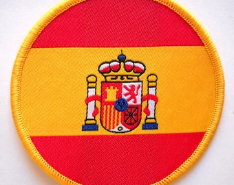 Spain national flag embroidered iron sew on Spanish cloth badge patch