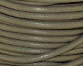 """2mm Round Leather 2mm """"Coconut"""" Round Leather Sold By The Yard or Spool #20"""