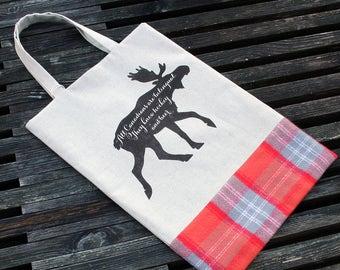 Moose Tote & Book Bag