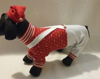 Santa's Helper Dog Outfit