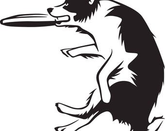 Dog and Frisbee Trick SVG FILE