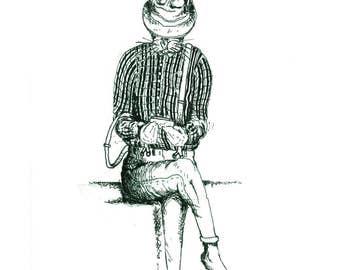 City Animals 'The Hare' - A5 Hand Drawn Digital Print