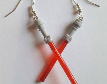 Lightsaber Earrings / Star Wars Earrings Handmade
