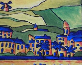 "Oil Landscape, Original Landscape Oil Painting, Impressionism, Original Abstract Painting Canvas 18""x14"" Expressionist Art Fauvism Artwork"